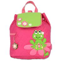 Quilted Backpack for pre-schoolers | Girls frog backpack